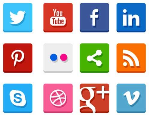 Pack gratuito de iconos de redes sociales: Simple Flat Social Media Icons de Rafi