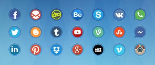 Pack gratuito de iconos de redes sociales: Social Media Icons 2 de alpercakici