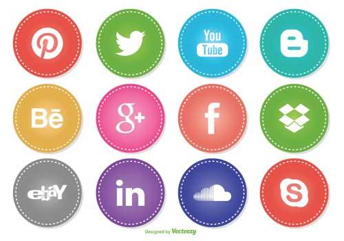 Pack gratuito de iconos de redes sociales: Social Media Icons de carterart