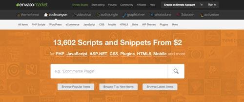 Cómo hacer página web en 3 pasos: CodeCanyon, lugar de compra de plugins WordPress