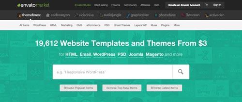 Cómo hacer página web en 3 pasos: ThemeForest, lugar de compra de temas WordPress