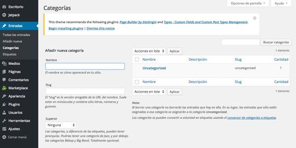 Cómo hacer página web en 3 pasos: Añadir categorías en WordPress