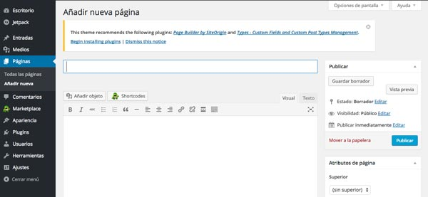 Cómo hacer página web en 3 pasos: Añadir contenido