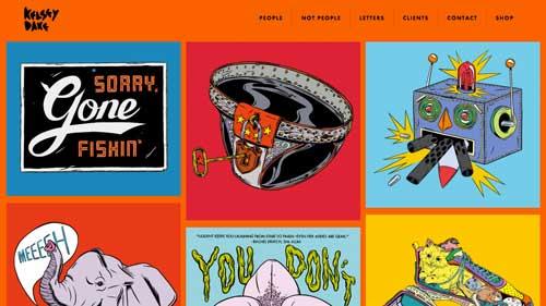Ejemplos de páginas web que hacen uso de diversos colores: Kelsey Dake
