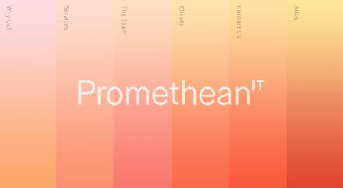 Ejemplos de páginas web que hacen uso de diversos colores: Promethean IT