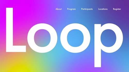 Ejemplos de páginas web que hacen uso de diversos colores: Loop