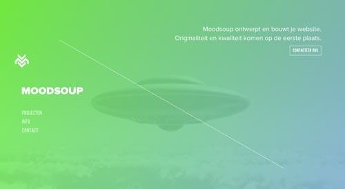 Ejemplos de páginas web que hacen uso de diversos colores: Moodsoup