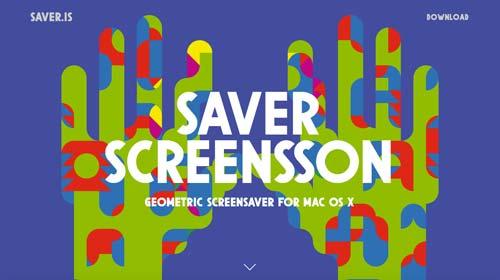 Ejemplos de páginas web que hacen uso de diversos colores: Saver.is