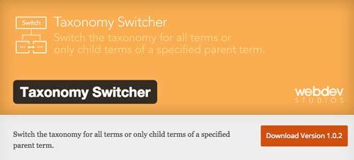 Plugin WordPress para organizar categorías y etiquetas: Taxonomy Switcher