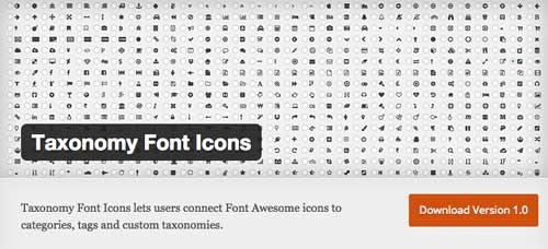 Plugin WordPress para organizar categorías y etiquetas: Taxonomy Font Icons
