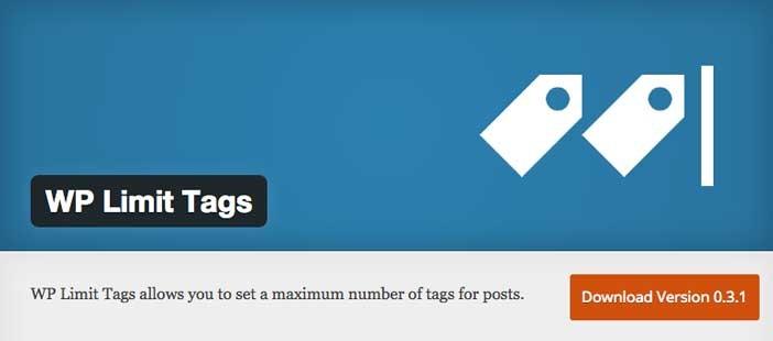 Plugin Wordpress para organizar categorías y etiquetas: WP Limit Tags