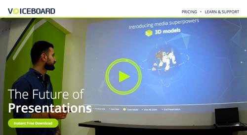 Programas para hacer diapositivas: Voiceboard