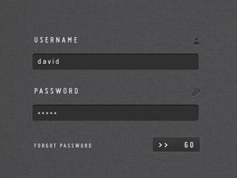 Archivos PSD gratuitos de formularios web que emplean colores oscuros: Clean & Stylish Login Form