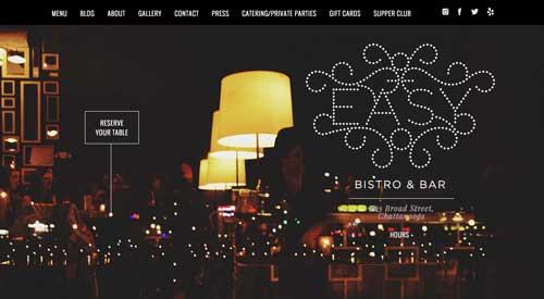 Ejemplo de sitios web de restaurantes: Easy Bistro