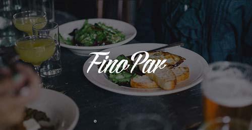 Ejemplo de sitios web de restaurantes: Fino Par