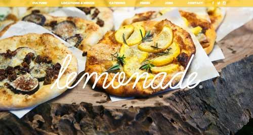 Ejemplo de sitios web de restaurantes: Lemonade