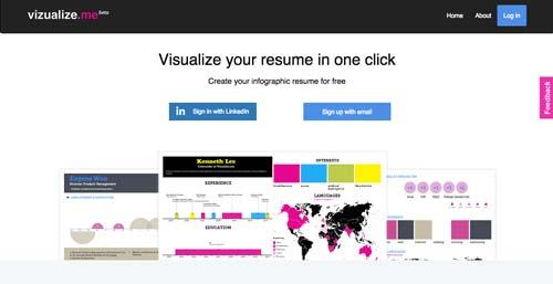 Herramientas online para hacer infografías: Vizualize.me
