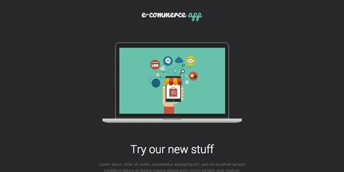 Plantillas HTML para envío de boletines informativos: Flat E-Commerce