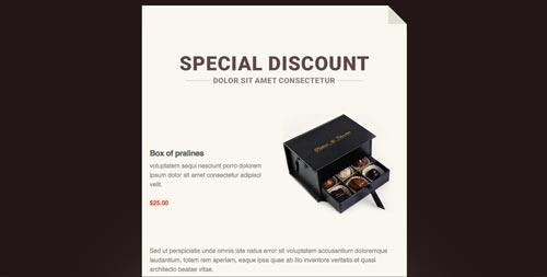 Plantillas HTML para envío de boletines informativos: Smooth Chocolate