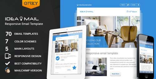 Plantillas HTML para envío de boletines informativos: Idea Mail