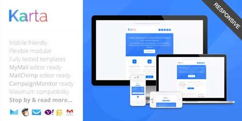 Plantillas HTML para envío de boletines informativos: Karta
