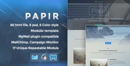 Plantillas HTML para envío de boletines informativos: Papir