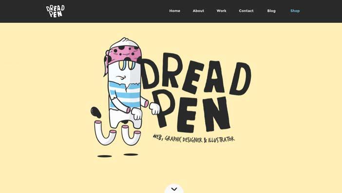 ejemplos-sitios-web-buen-uso-fuentes-manuscritas-DreadPen