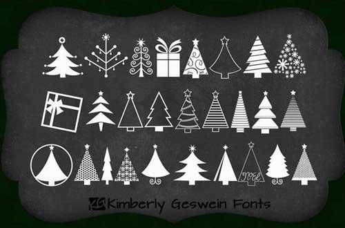 fuentes-gratuitas-iconos-navidenos-KGChristmasTrees