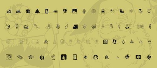 fuentes-gratuitas-iconos-navidenos-KRChristmas2001
