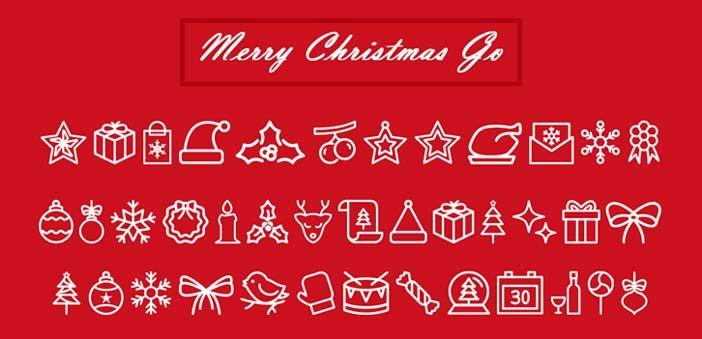 fuentes-gratuitas-iconos-navidenos-MerryChristmasGo