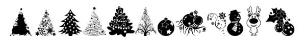 fuentes-gratuitas-iconos-navidenos-XMasTFBChristmas