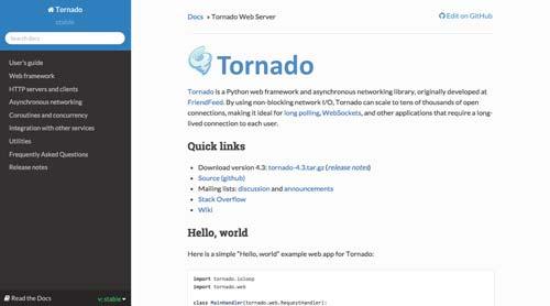 listado-python-frameworks-tornado