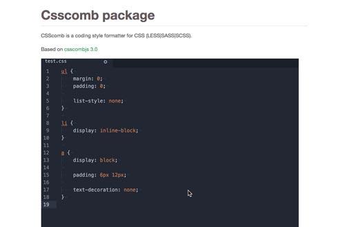 Atom Packages que todo desarrollador necesita: CSS Comb