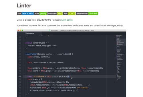 Atom Packages que todo desarrollador necesita: Linter