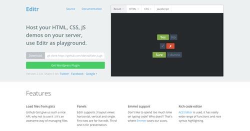 Editor JavaScript en línea para depurar errores y realizar pruebas: Editr