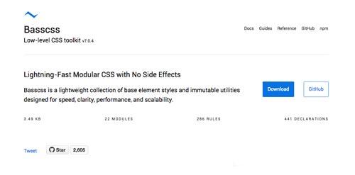 Frameworks CSS sencillas para proyectos ligeros: Bass CSS