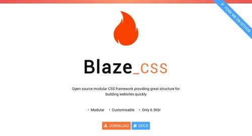 Frameworks CSS sencillas para proyectos ligeros: Blaze CSS