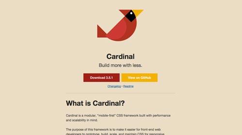 Frameworks CSS sencillas para proyectos ligeros: Cardinal