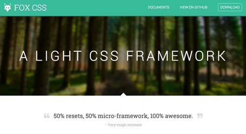 Frameworks CSS sencillas para proyectos ligeros: Fox CSS
