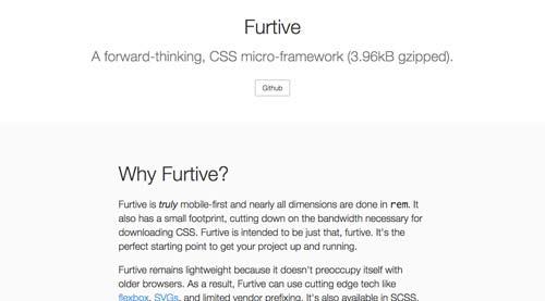 Frameworks CSS sencillas para proyectos ligeros: Furtive