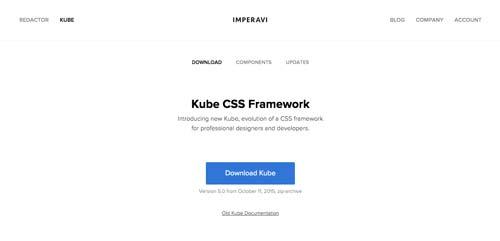 Frameworks CSS sencillas para proyectos ligeros: Kube