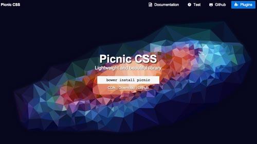 Frameworks CSS sencillas para proyectos ligeros: Picnic CSS