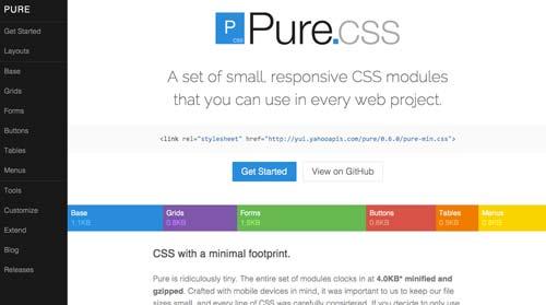 Frameworks CSS sencillas para proyectos ligeros: Pure.css
