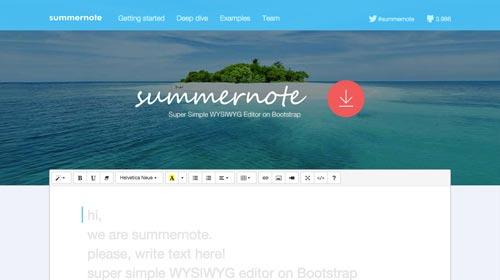 herramientas-incluir-editor-wysiwyg-Summernote