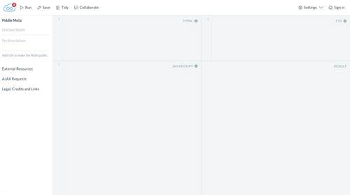 opciones-editor-javascript-linea-JSFiddle