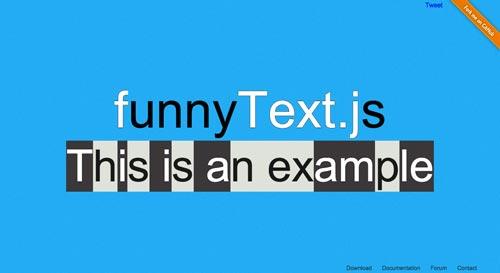 plugin-jquery-animar-texto-FunnyTextjs