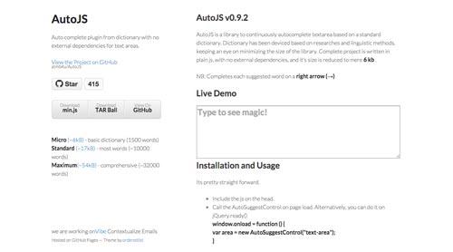Plugin jQuery para implementar función Autocompletar en tu sitio: AutoJS