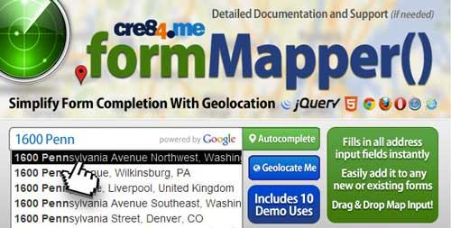 Plugin jQuery para implementar función Autocompletar en tu sitio: Form Mapper