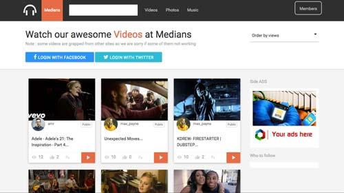 Script PHP para crear plataforma de videos: Medians