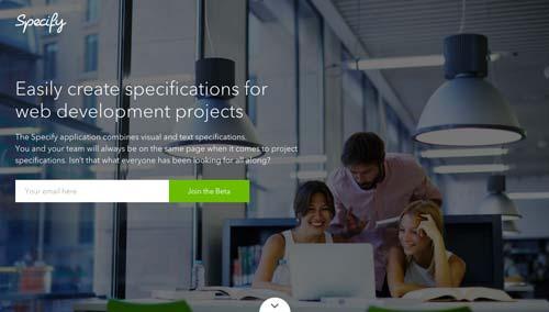 ejemplos-de-paginas-web-anuncian-proximo-lanzamiento-Specify